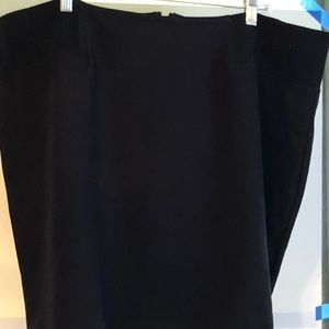3X Roz & Ali black pencil skirt elastic waist